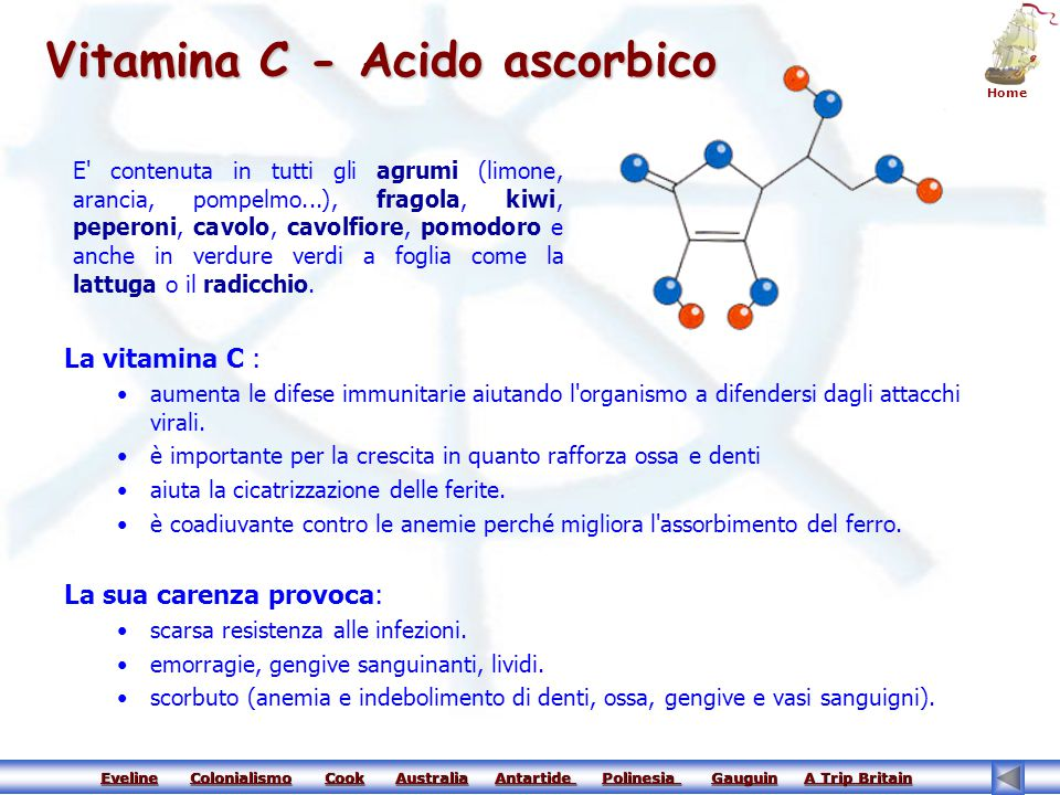 Vitamina C - Acido ascorbico