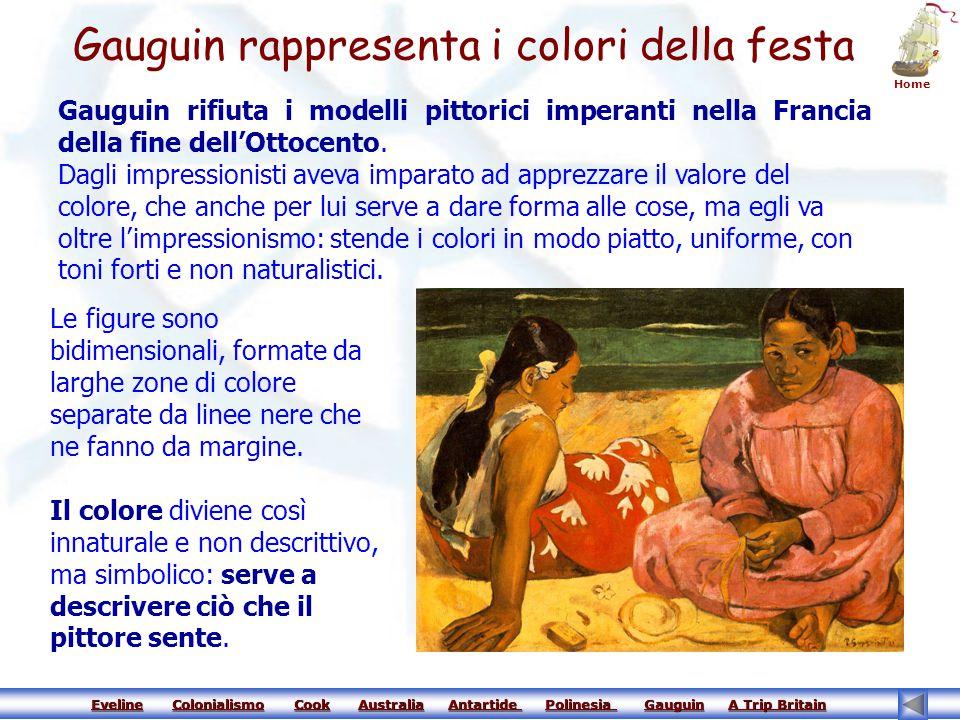 Gauguin rappresenta i colori della festa