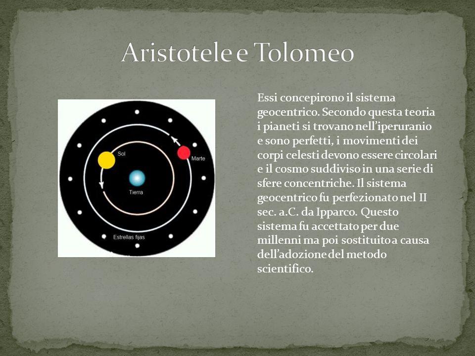 Aristotele e Tolomeo