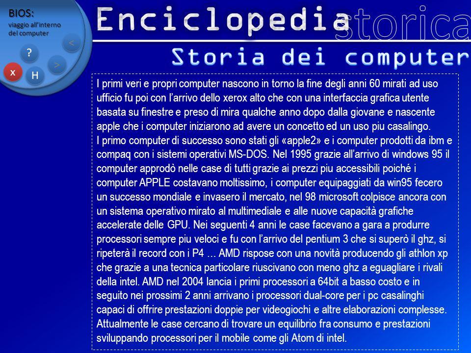 storica Enciclopedia Storia dei computer BIOS: < > x H
