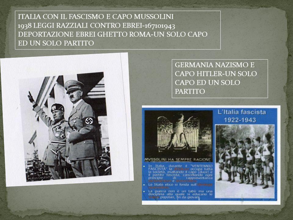 ITALIA CON IL FASCISMO E CAPO MUSSOLINI