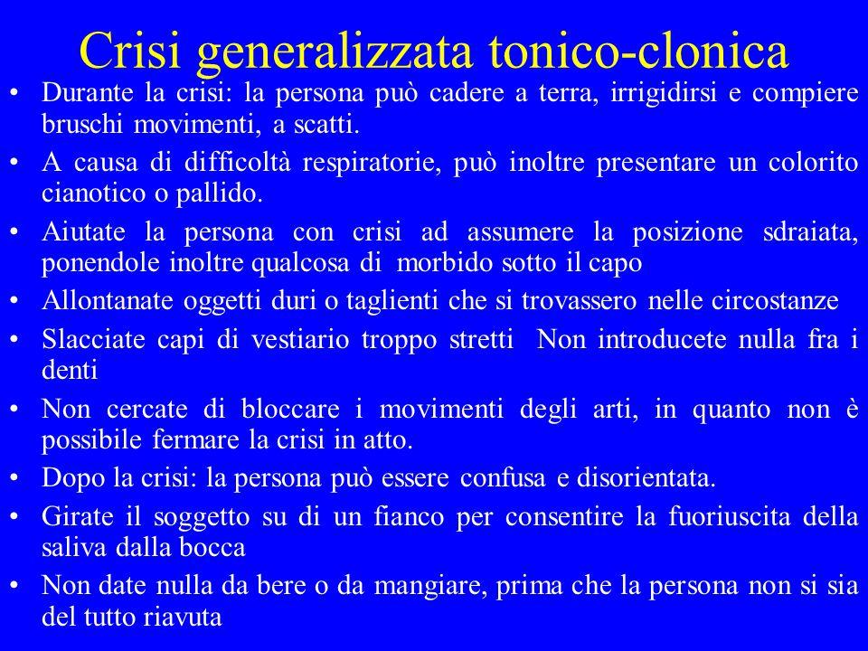 Crisi generalizzata tonico-clonica