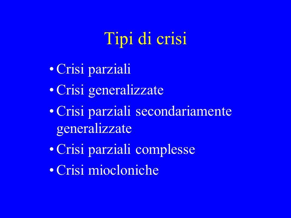 Tipi di crisi Crisi parziali Crisi generalizzate