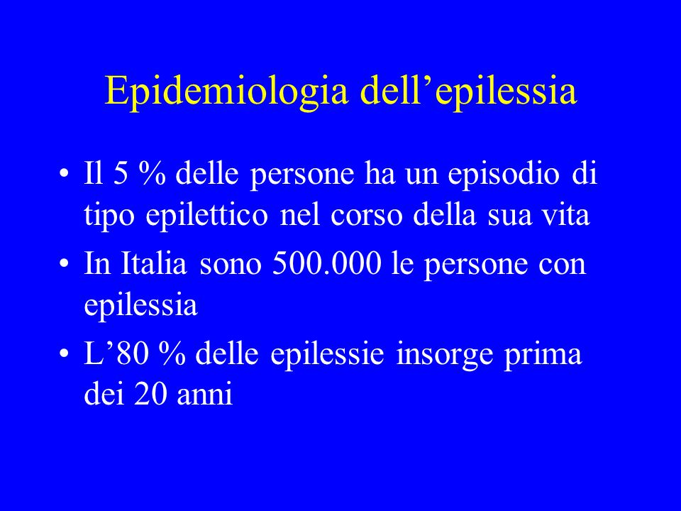 Epidemiologia dell'epilessia
