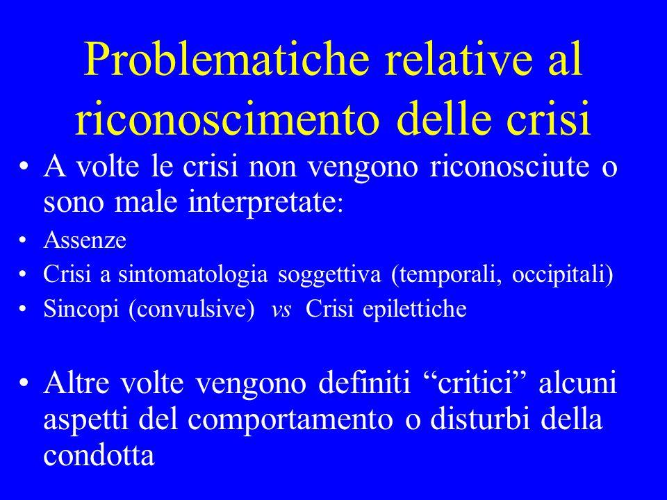 Problematiche relative al riconoscimento delle crisi