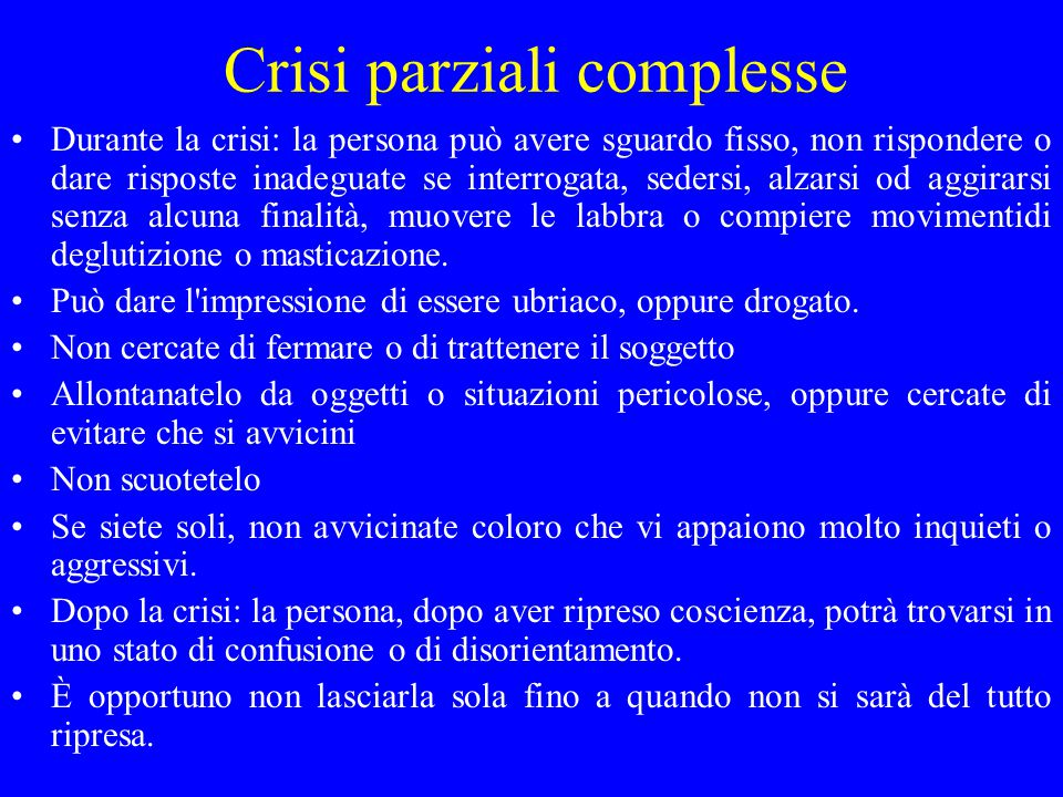 Crisi parziali complesse