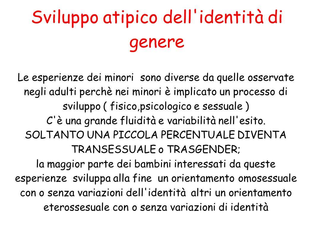 Sviluppo atipico dell identità di genere