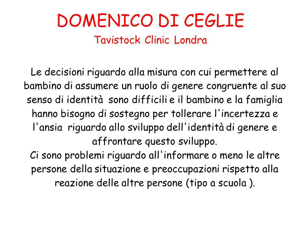 DOMENICO DI CEGLIE Tavistock Clinic Londra
