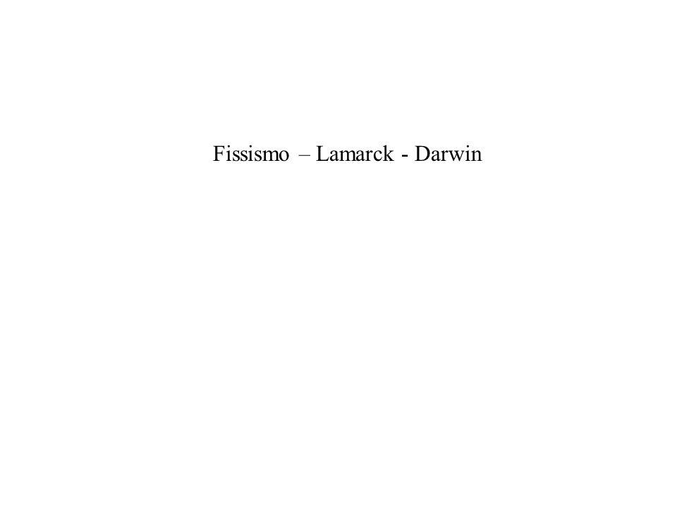 Fissismo – Lamarck - Darwin