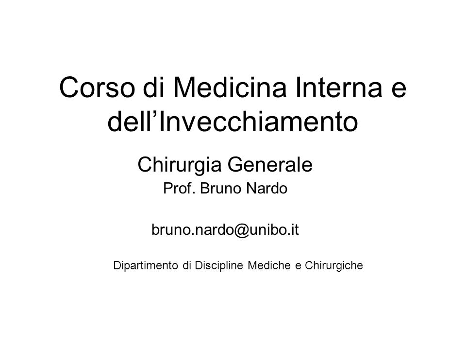 Corso di Medicina Interna e dell'Invecchiamento