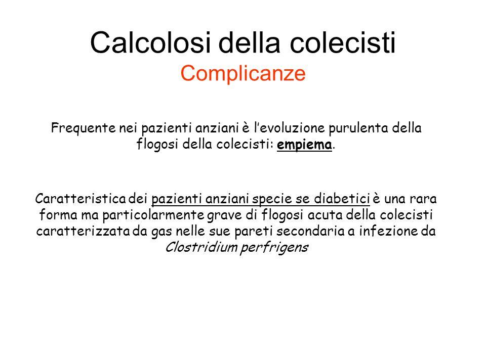 Calcolosi della colecisti Complicanze