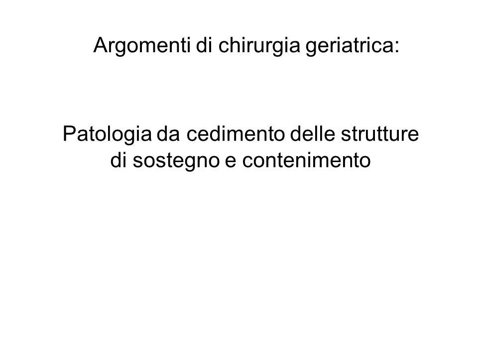 Argomenti di chirurgia geriatrica: