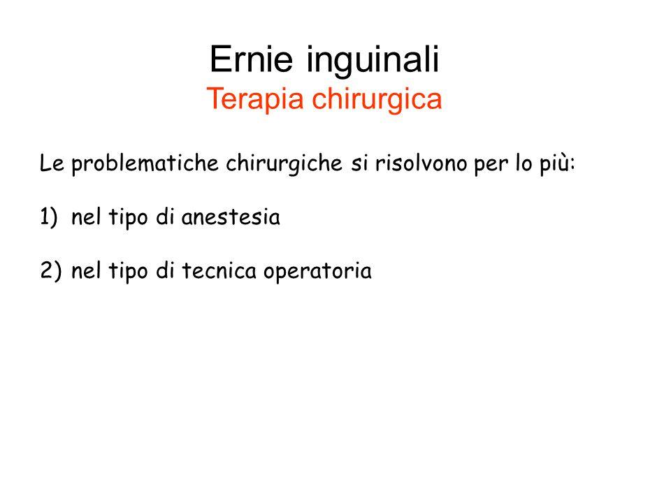 Ernie inguinali Terapia chirurgica