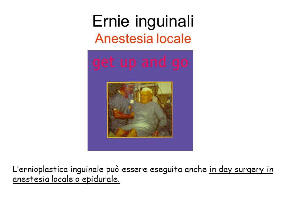 Ernie inguinali Anestesia locale