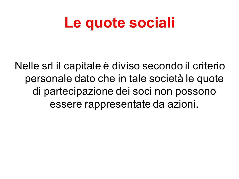 Le quote sociali
