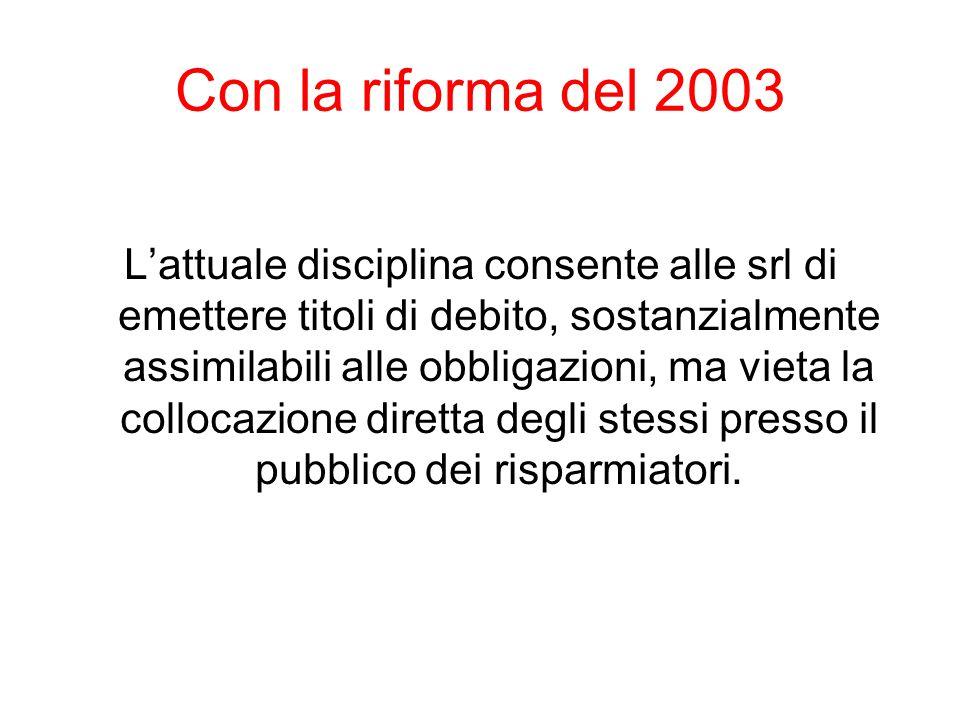 Con la riforma del 2003