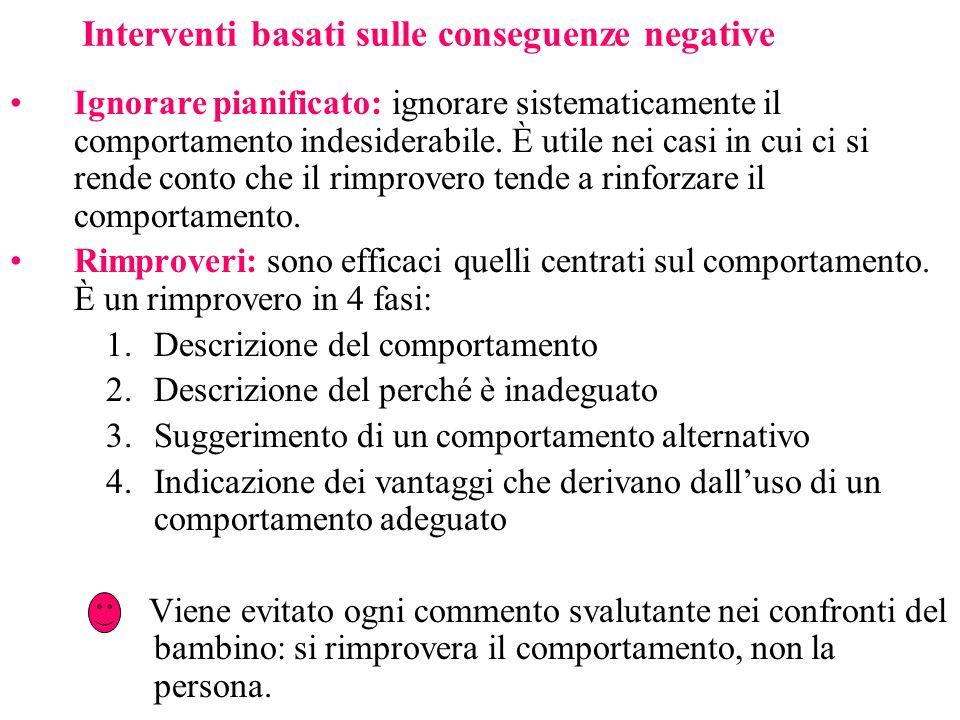 Interventi basati sulle conseguenze negative