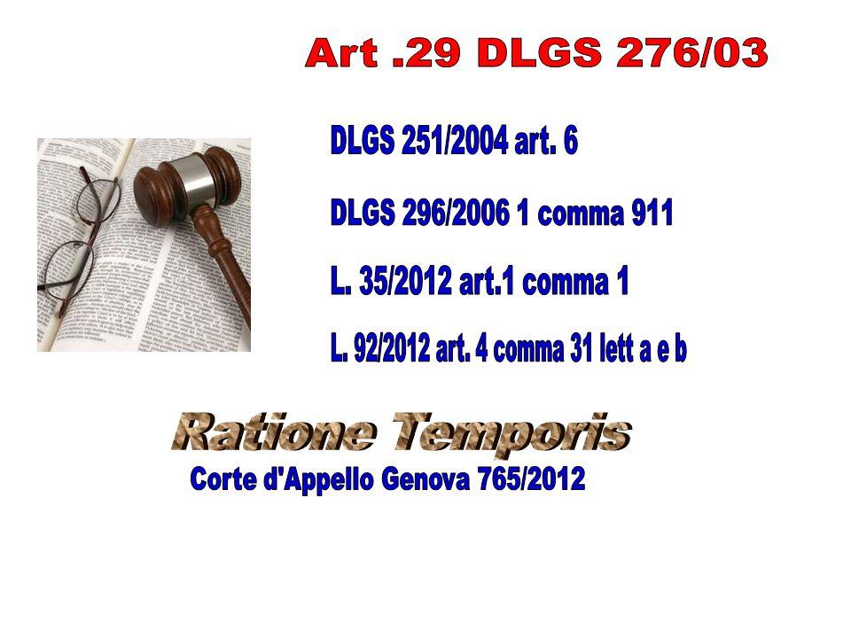 Corte d Appello Genova 765/2012