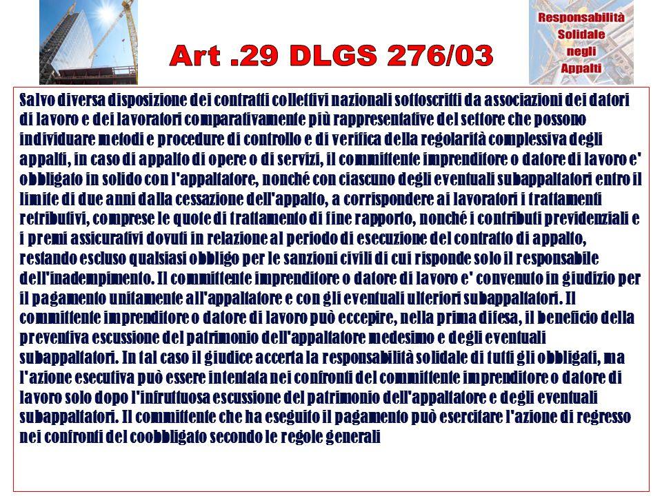 Art .29 DLGS 276/03