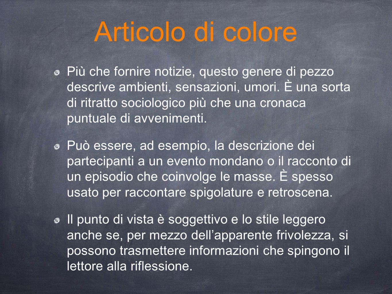Articolo di colore