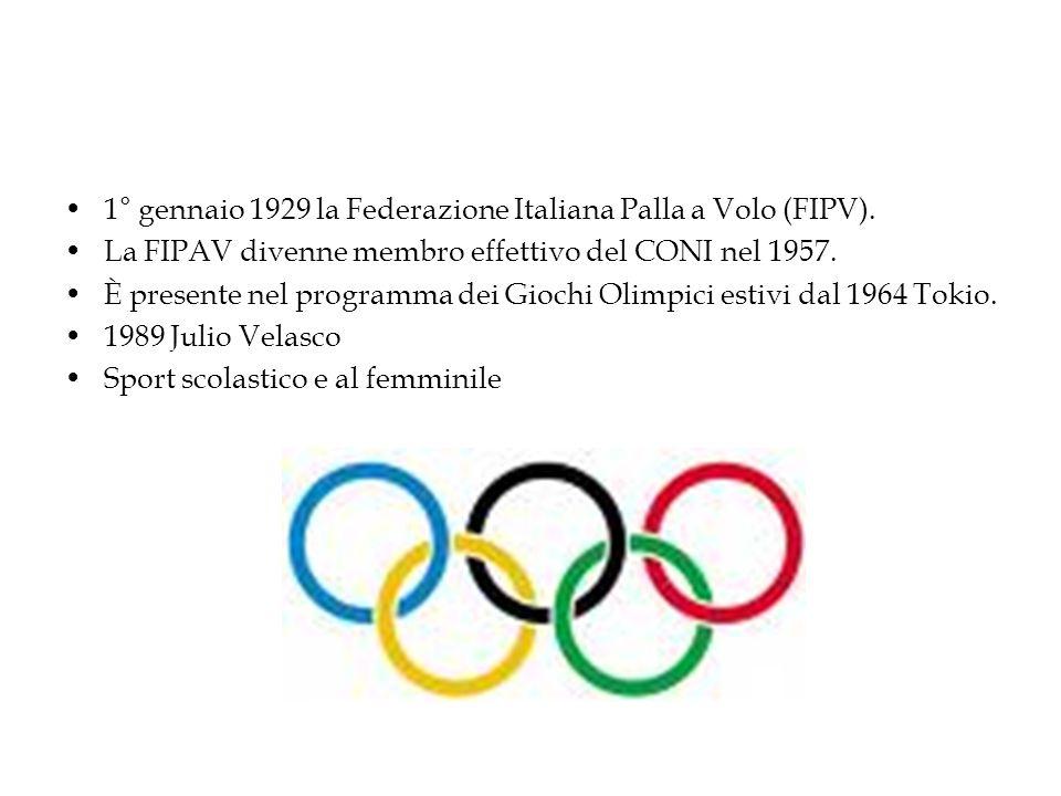 1° gennaio 1929 la Federazione Italiana Palla a Volo (FIPV).