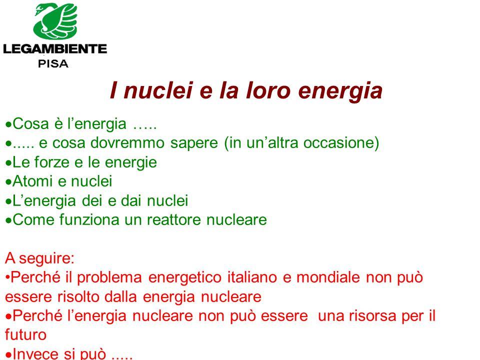 I nuclei e la loro energia