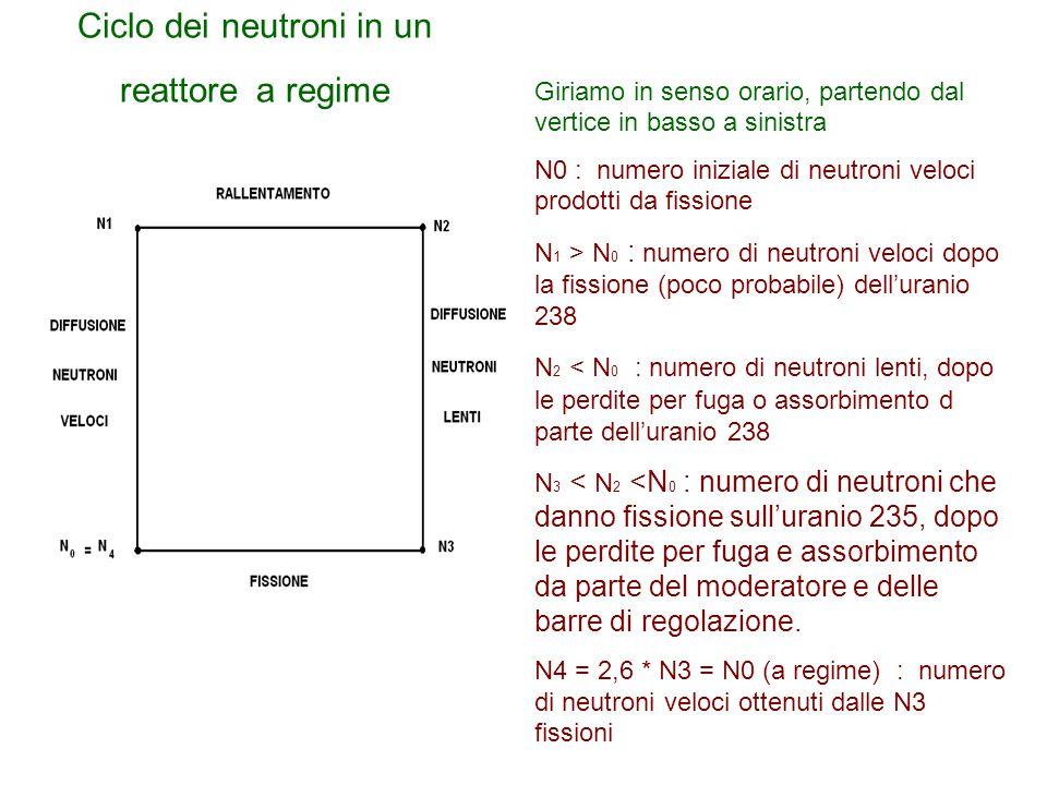 Ciclo dei neutroni in un reattore a regime