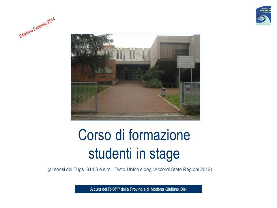 Corso di formazione studenti in stage