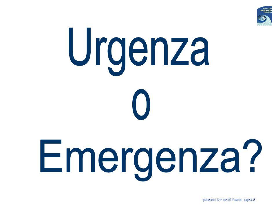 Urgenza Emergenza o giulianobisi 2014 per IST Paradisi – pagina 35