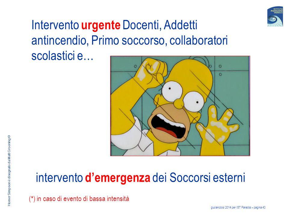intervento d'emergenza dei Soccorsi esterni