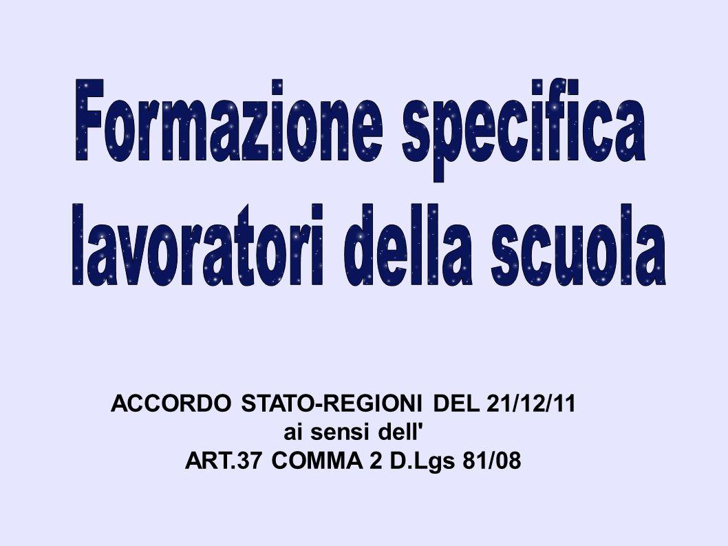 ACCORDO STATO-REGIONI DEL 21/12/11