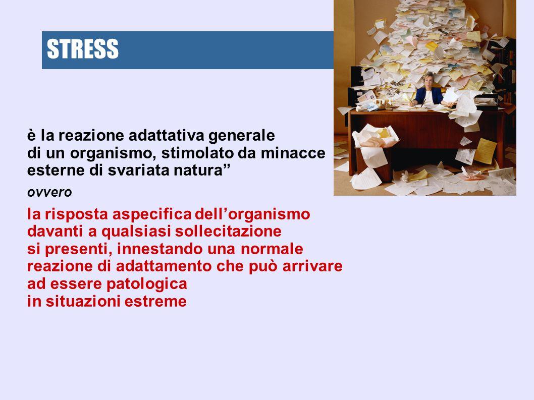 STRESS STRESS è la reazione adattativa generale