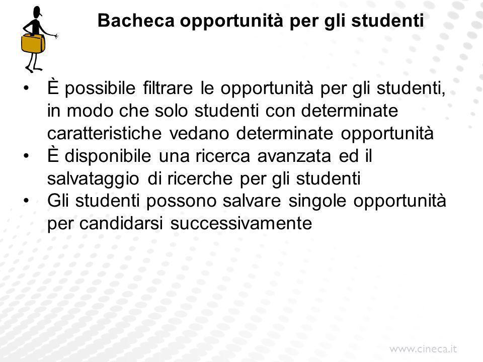 Bacheca opportunità per gli studenti
