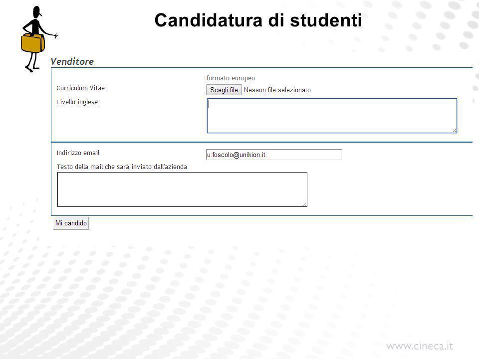 Candidatura di studenti