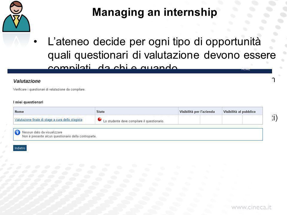 Managing an internship