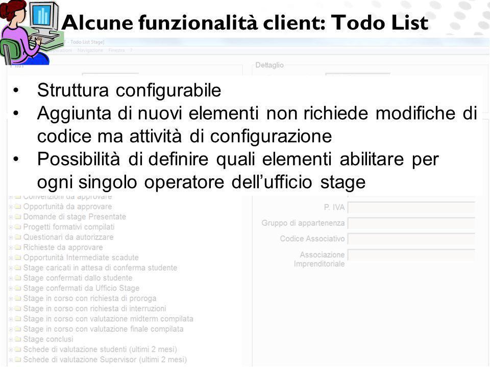 Alcune funzionalità client: Todo List