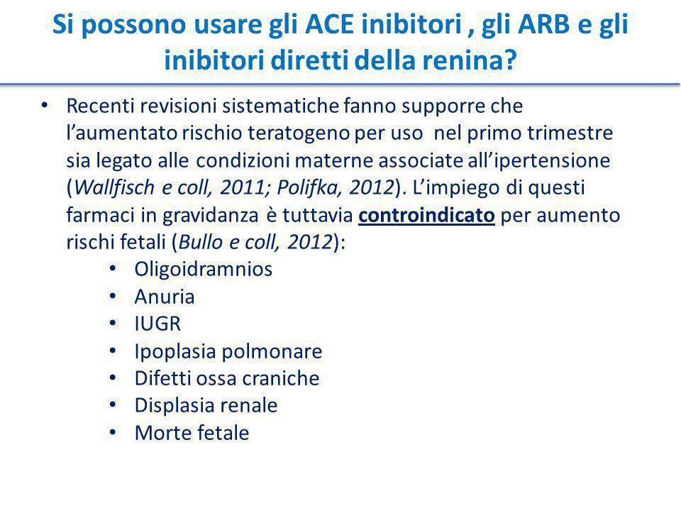 Si possono usare gli ACE inibitori , gli ARB e gli inibitori diretti della renina
