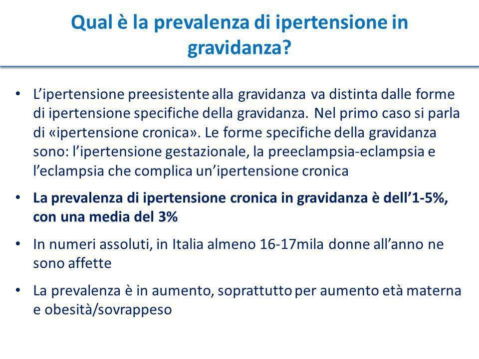 Qual è la prevalenza di ipertensione in gravidanza