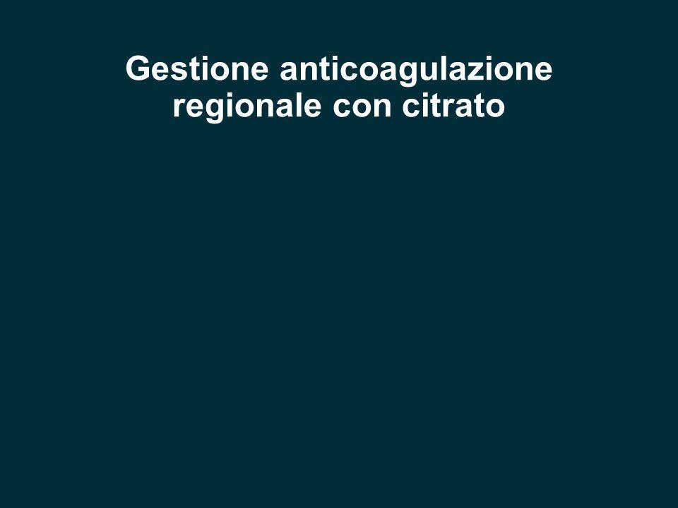 Gestione anticoagulazione regionale con citrato