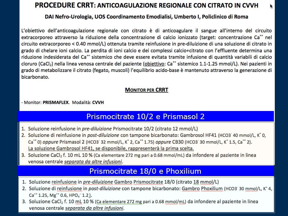 Prismocitrate 10/2 e Prismasol 2