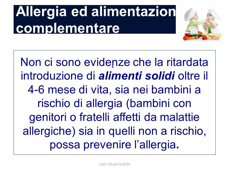 Allergia ed alimentazione complementare