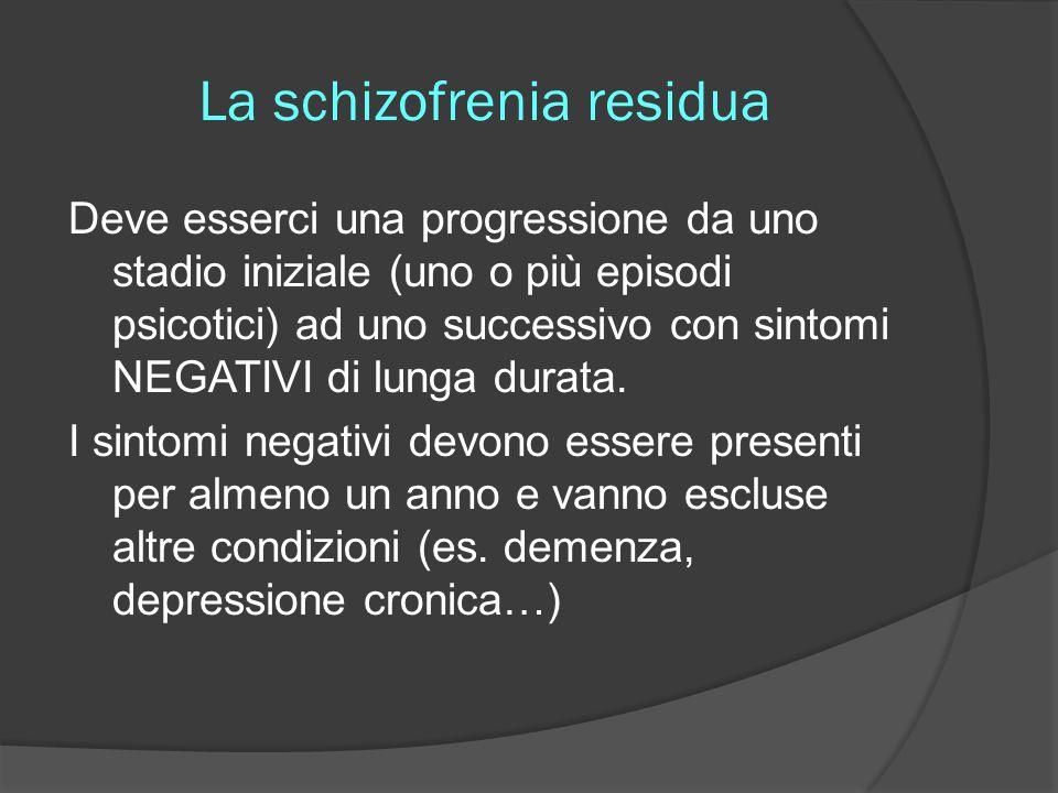 La schizofrenia residua