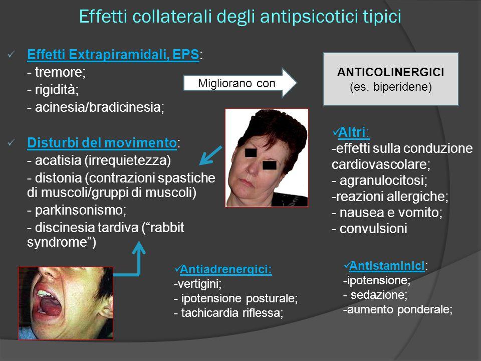 Effetti collaterali degli antipsicotici tipici