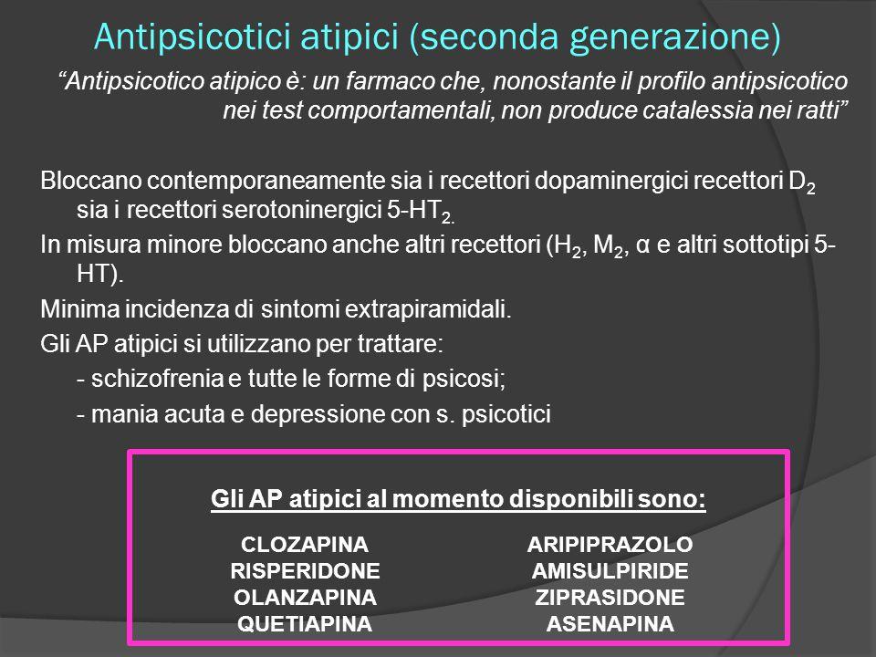 Antipsicotici atipici (seconda generazione)