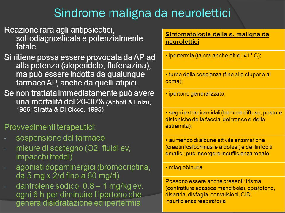 Sindrome maligna da neurolettici