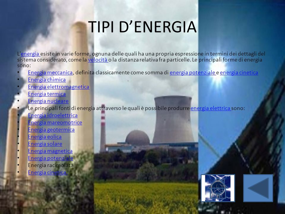 TIPI D'ENERGIA