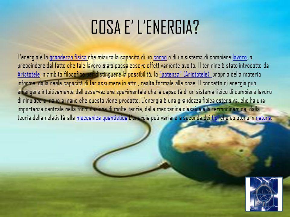 COSA E' L'ENERGIA