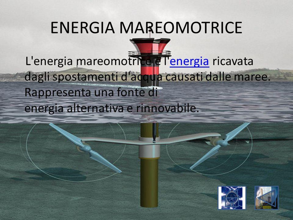 ENERGIA MAREOMOTRICE