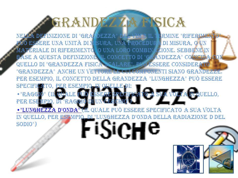 GRANDEZZA FISICA