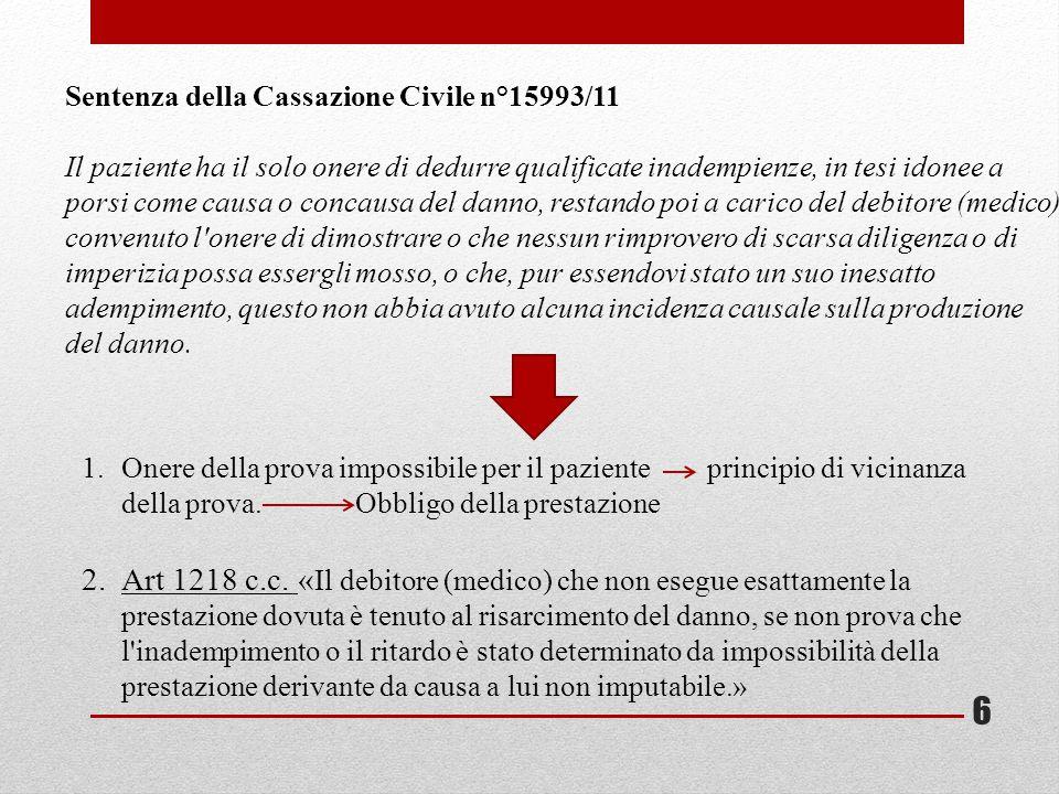 Sentenza della Cassazione Civile n°15993/11